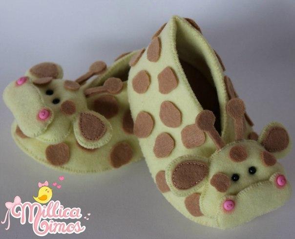 Moldes para hacer zapatidos de bebe de animales01