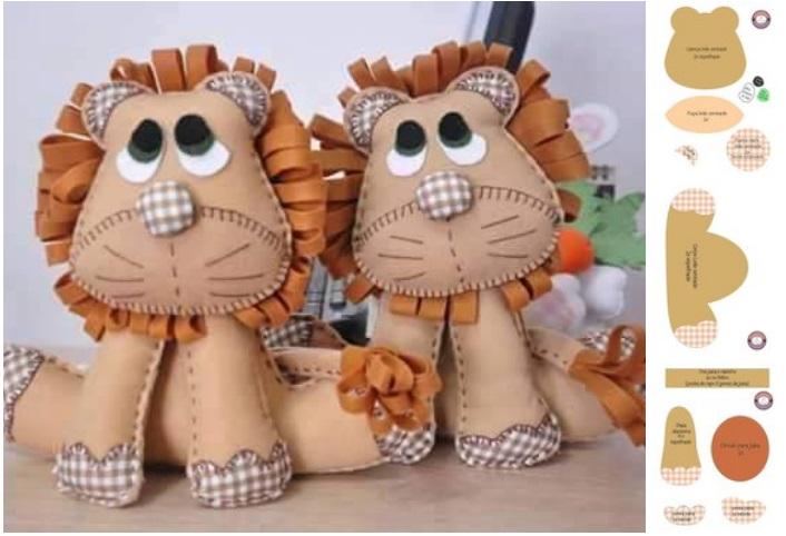 leones de fieltro patrones05
