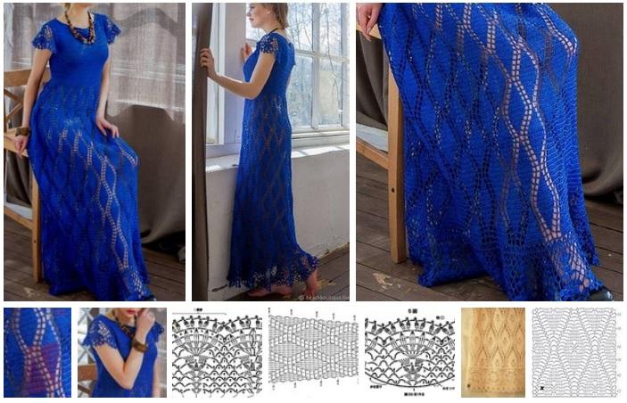 vestido tejido a ganchillo moldes11