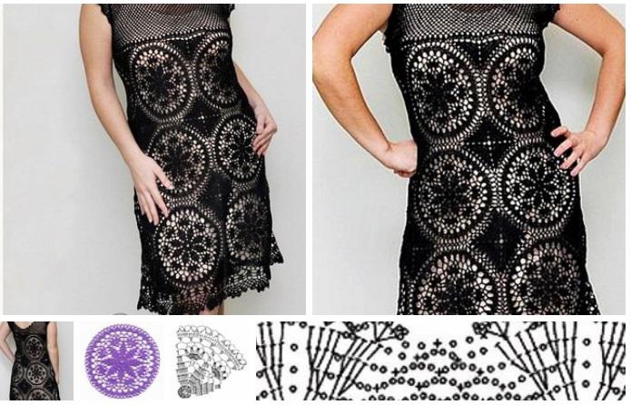 vestidos para gorditas a crochet moldes