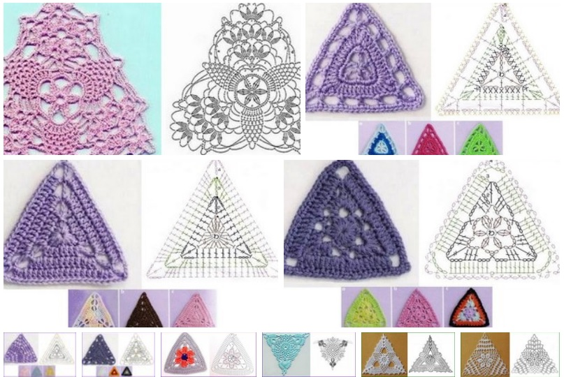 10 patrones de tringulos de crochet