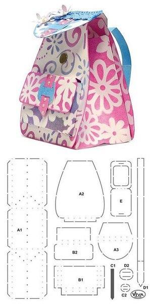 8 Moldes para hacer mochilas