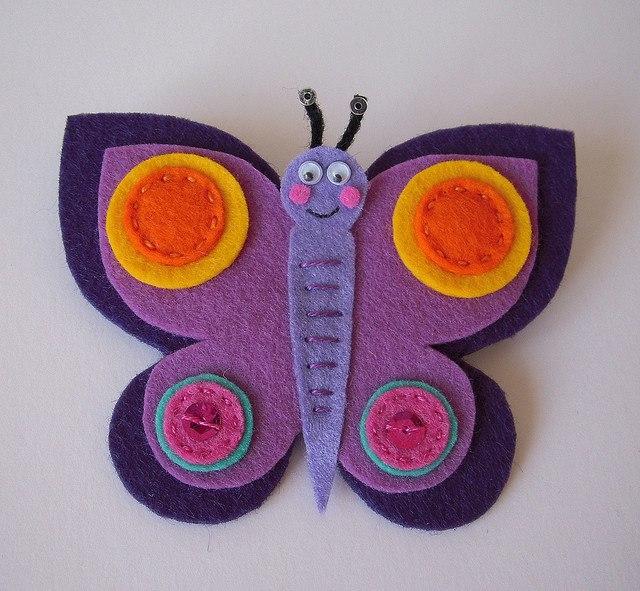 8 moldes de mariposas de fieltro