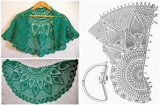 Chal tejido a crochet patrones08