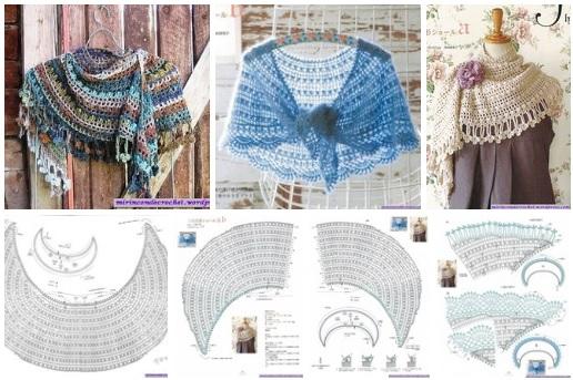 Chal tejido a crochet patrones09