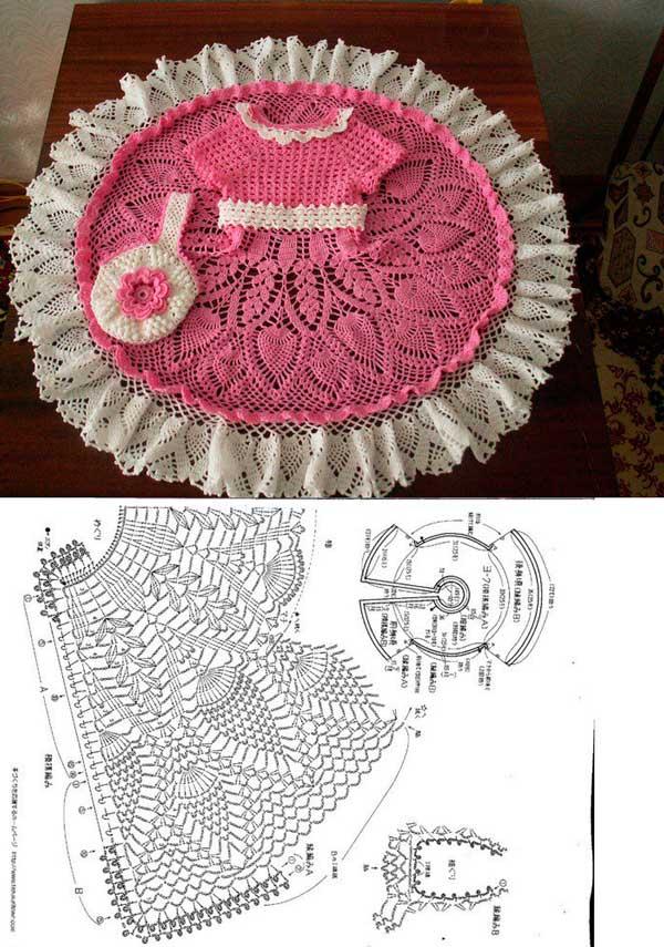 Dos vestidos tejido a crochet patrones05