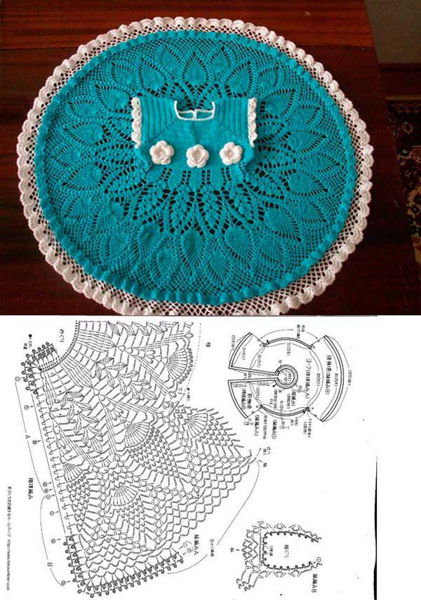 Dos vestidos tejido a crochet patrones06