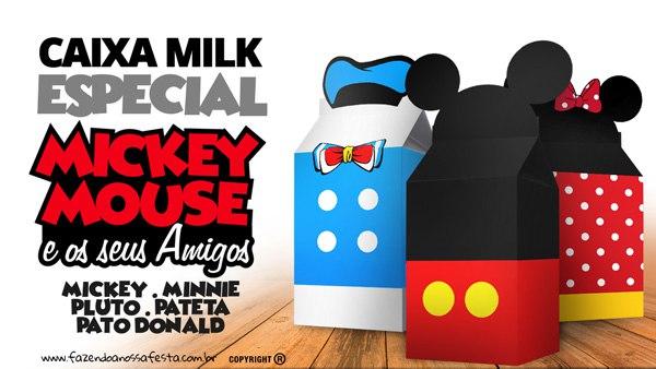 Dulceros de Mickey y minnie para imprimirlos