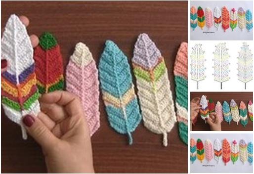 Hoja de crochet de colores moldes 04