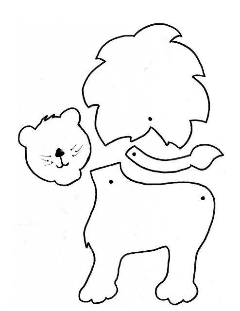 Moldes para hacer leones de fieltro06