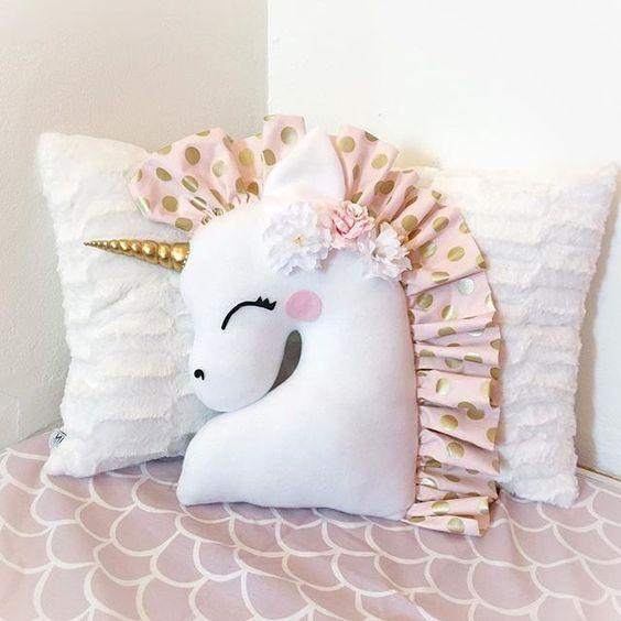 Moldes para hacer una almohada de unicornio