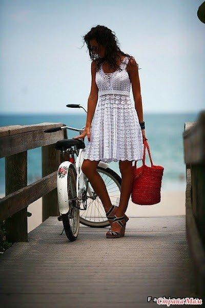 Vestido en crochet para la playa esquemas