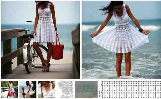 Vestido en crochet para la playa esquemas09
