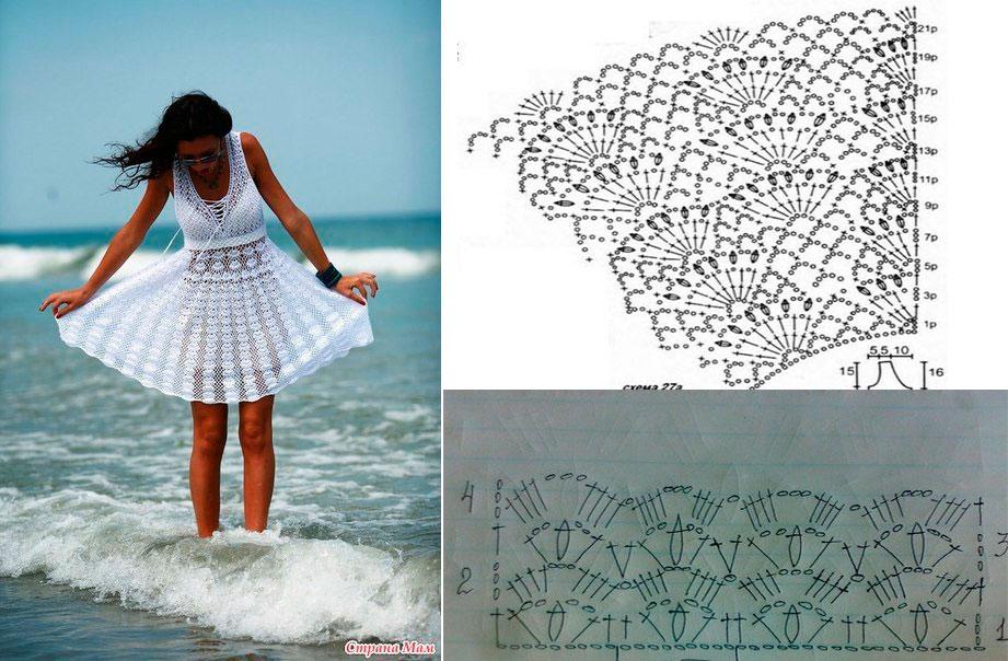 Vestido en crochet para la playa esquemas10