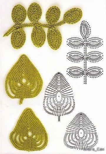 patrones de hojas a crochet para imprimir12