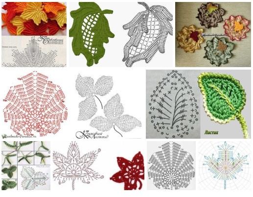 patrones de hojas a crochet para imprimir19