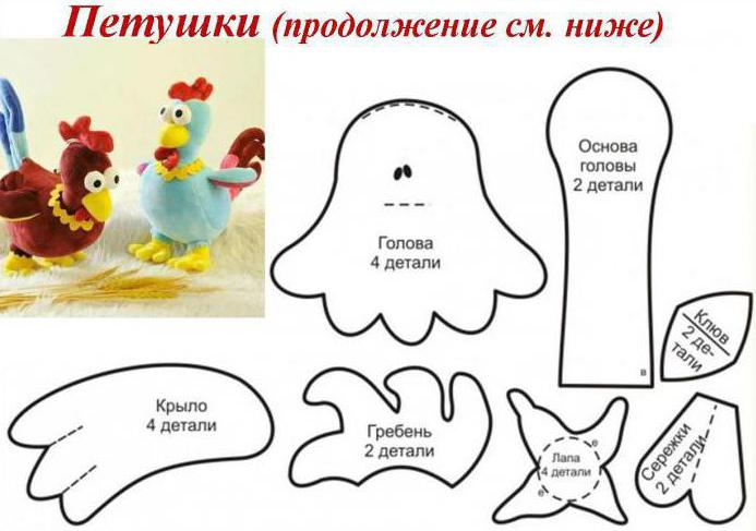 molde de gallo en fieltro01