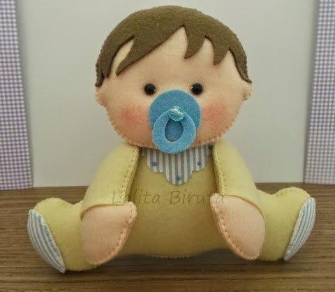 moldes de bebe de fieltro para baby shower