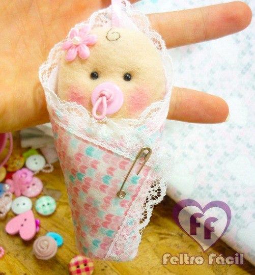moldes de bebes de fieltro para baby shower