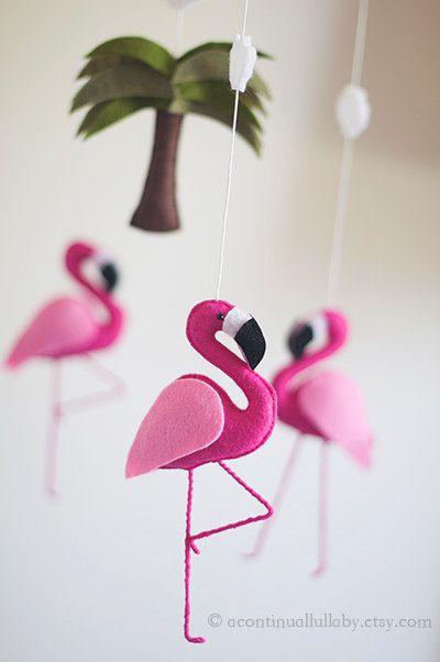 moldes de flamingos de fieltro