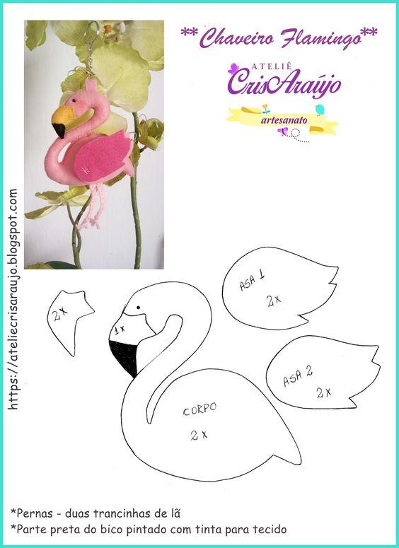 moldes de flamingos de fieltro03