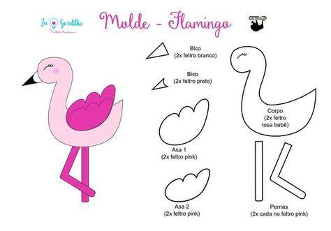 moldes de flamingos de fieltro06