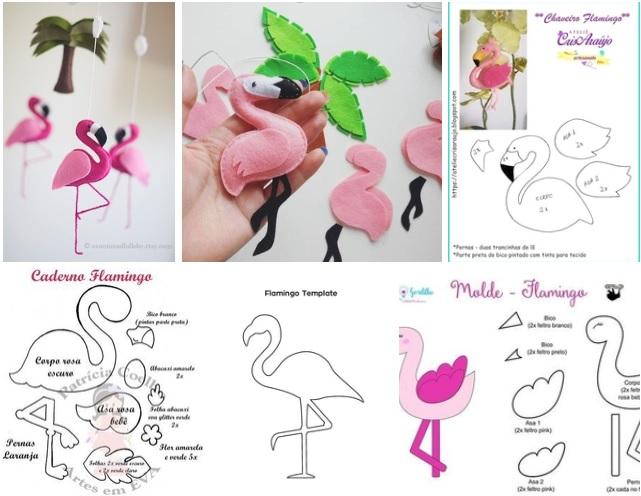 moldes de flamingos de fieltro07