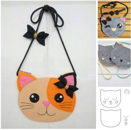 moldes para hacer bolsos para nina con disenos de gatos05