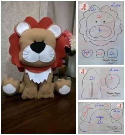 moldes para hacer de leon de fieltro05