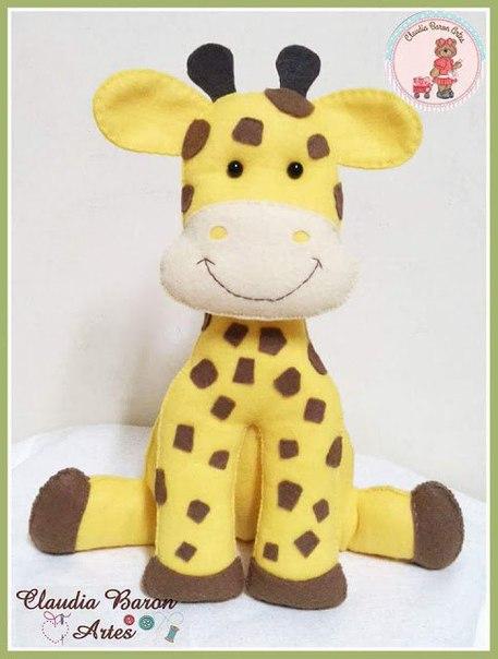 moldes para hacer jirafas de fieltro paso a paso