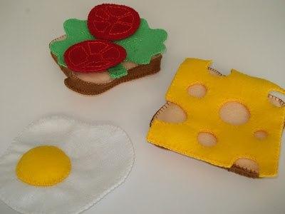 moldes para hacer un sandwich de fieltro