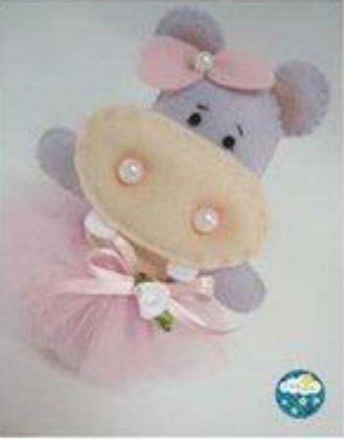 patron hipopotamo fieltro