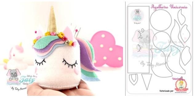 moldes para hacer alfileteros de unicornio02