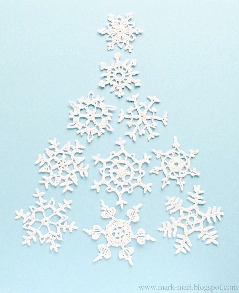 moldes de Copos de nieve hechos en crochet01