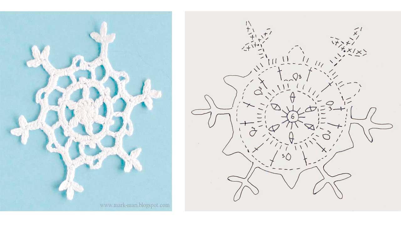moldes de Copos de nieve hechos en crochet10