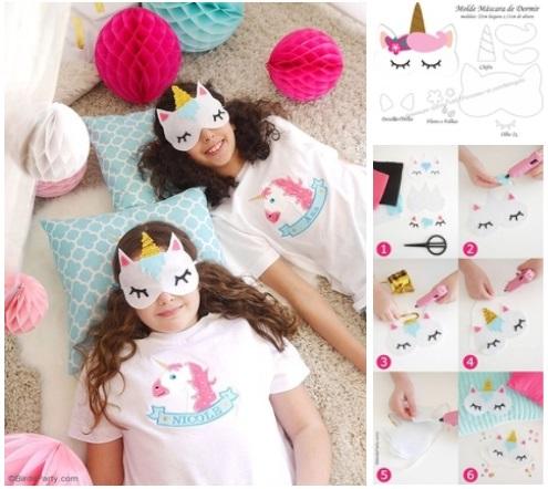 Molde antifaz de unicornio para dormir04