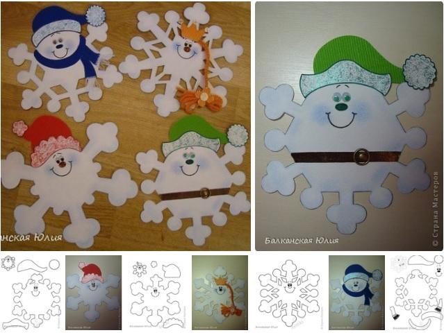 Moldes para hacer copos de nieve con papel10