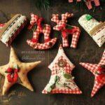 Adornos de navidad en tela moldes