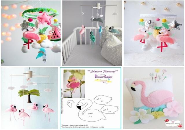 Molde flamingo de fieltro07