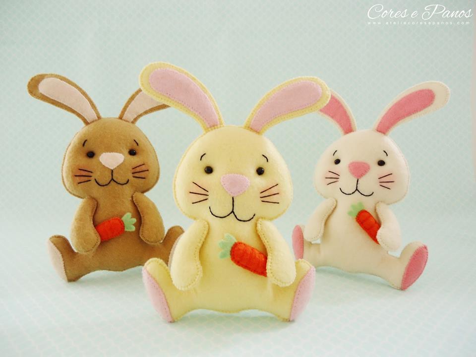 Moldes para hacer conejos de fieltro