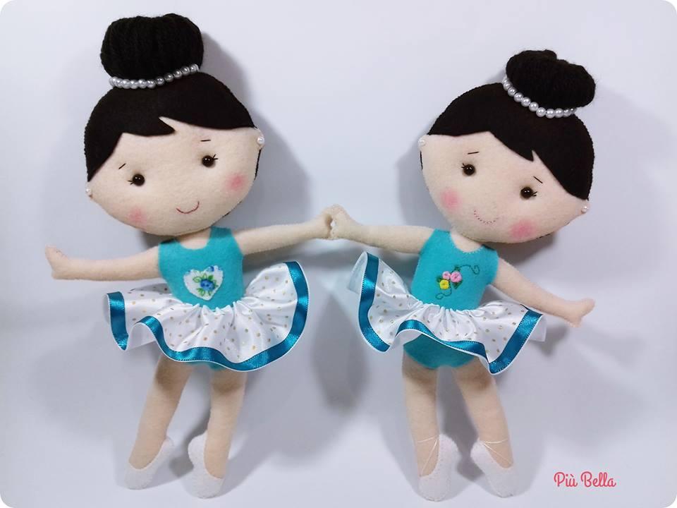 Moldes para hacer una bailarina de fieltro