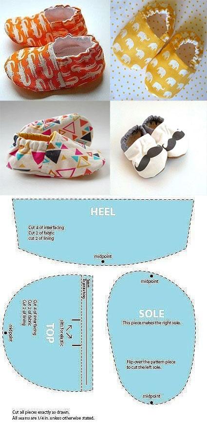 Molde de zapatos para niños