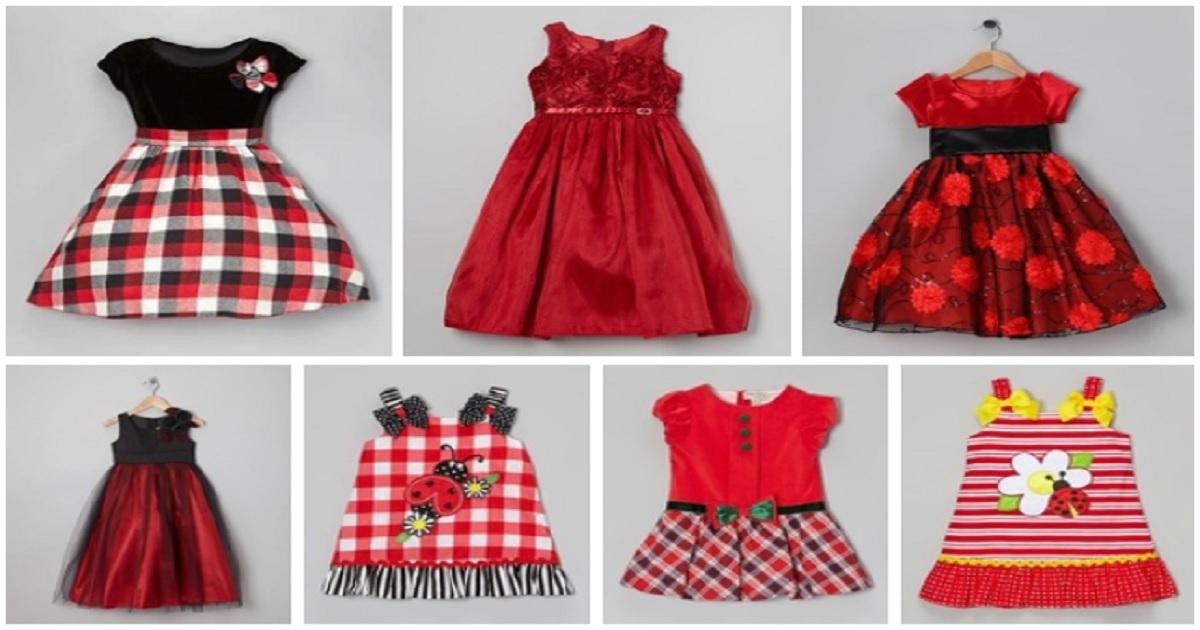 Vestidos color rojo para niña