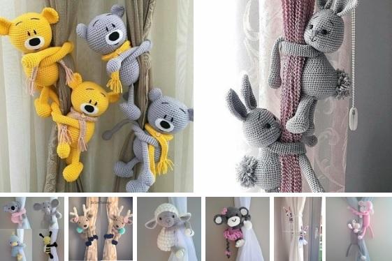 Sujeta cortinas tejidos en crochet