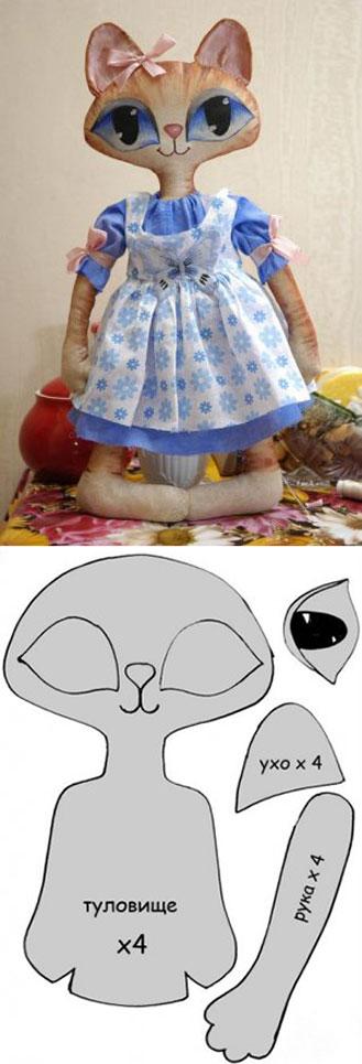 Muñeca gatita con patrones