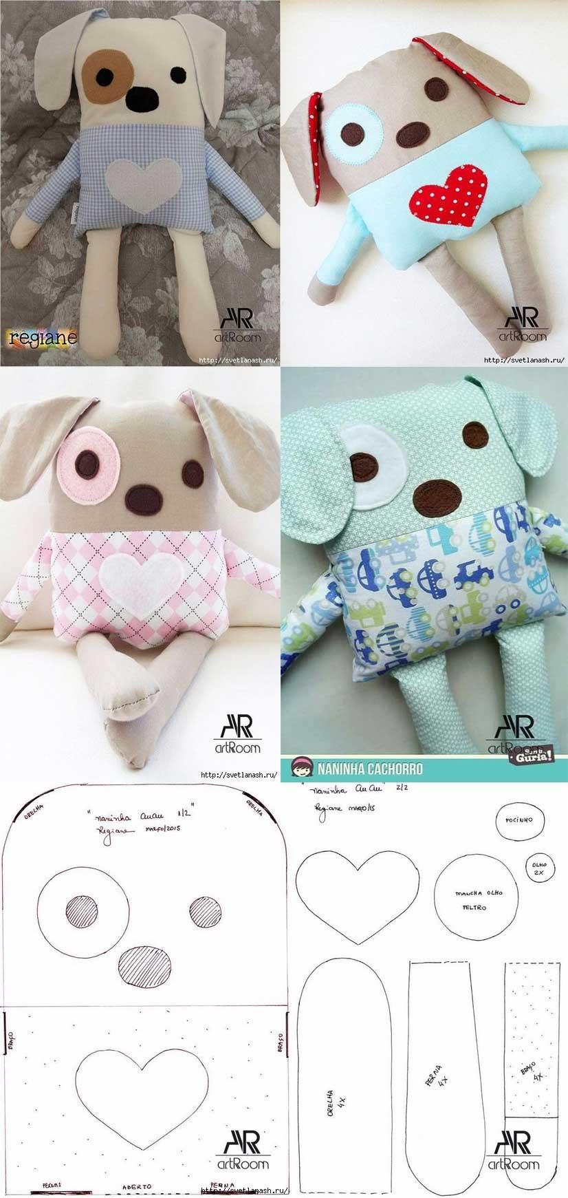 como hacer una almohada en forma de perro