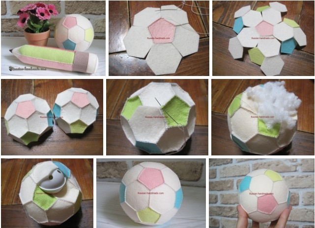 molde para hacer pelota en fieltro