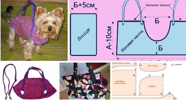 molde para hacer un bolso transportador para perros