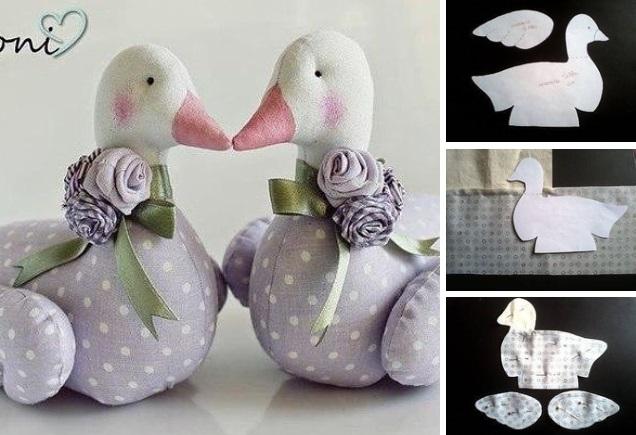 molde para hacer un pato de tela
