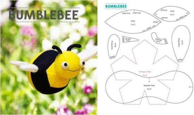 molde para hacer una abeja